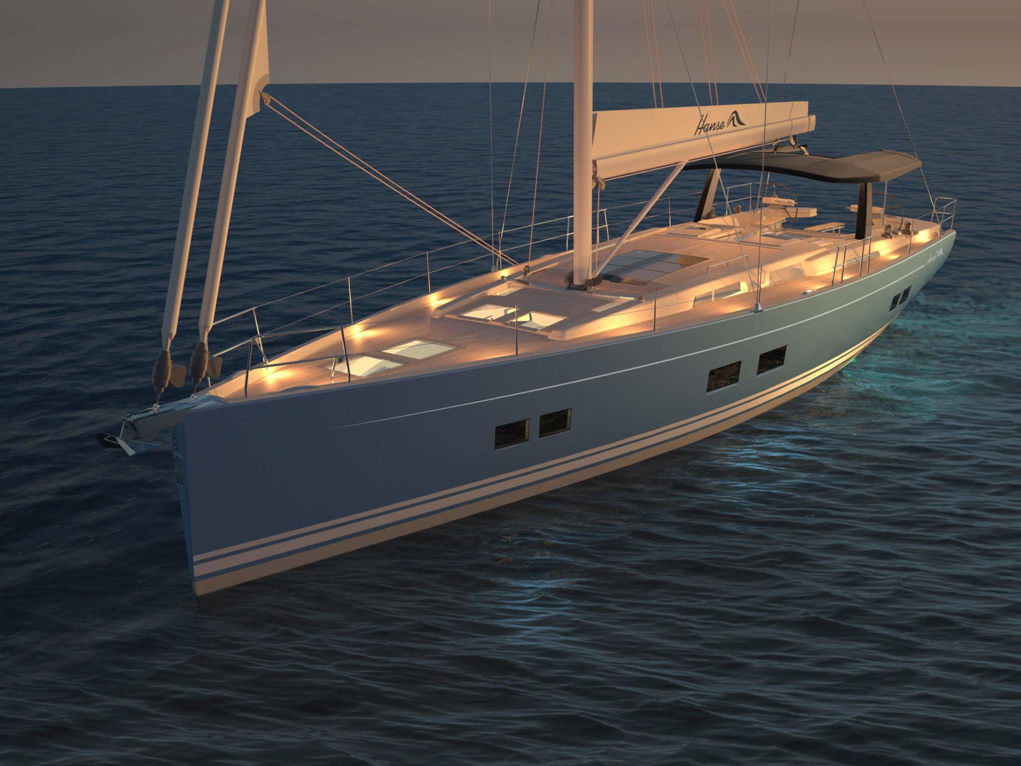 Яхта Hanse 588 - новинка в модельном ряду HanseYachts